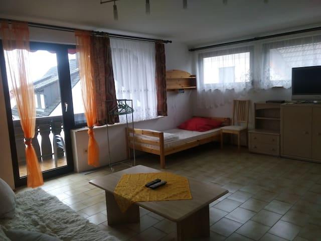 Großes, sehr helles 1 bis 5-Bett Zimmer