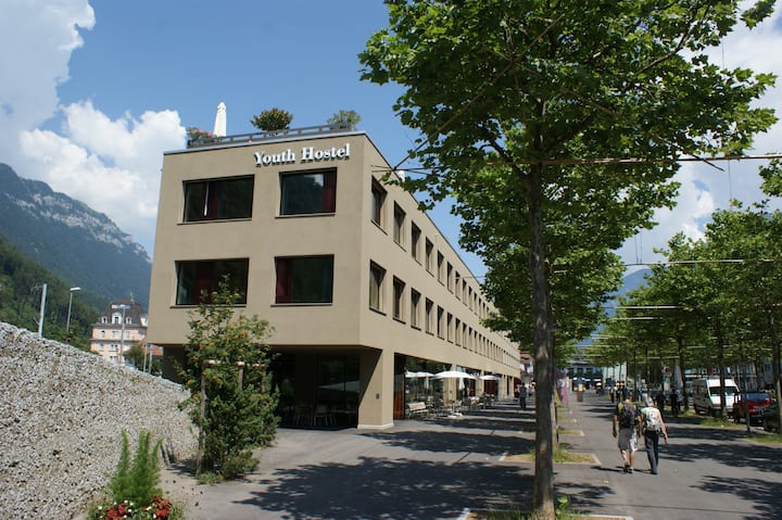 Interlaken Youth Hostel 1 bed in 4 bed room