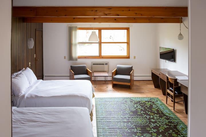 Treman Lodge Double (Grayhaven Motel - Rm #19)