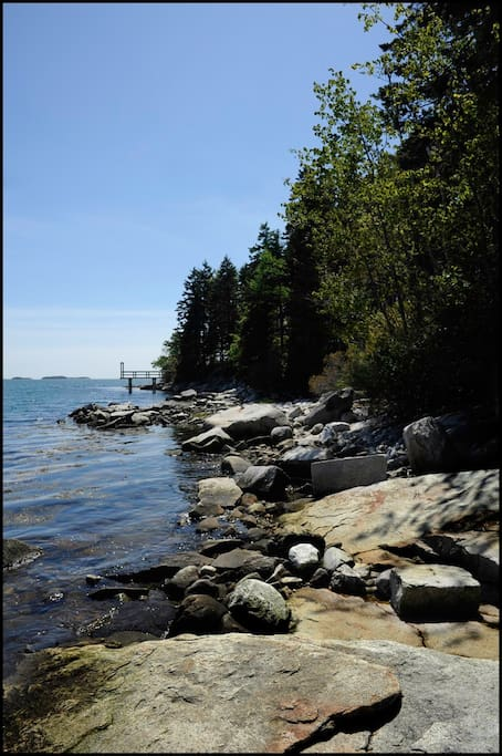 Part of the 265' of shoreline