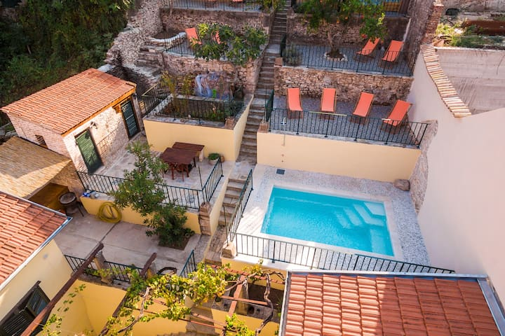 Stone Villa with pool centrally located!