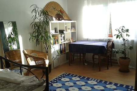 Ruhiges Doppelzimmer mit Garten & Yoga nahe FU - Apartamento