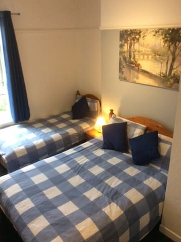 spacious double with additional single bed