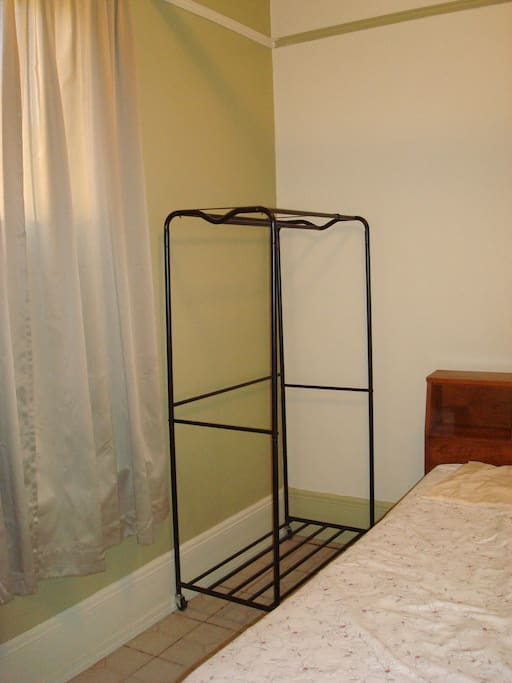 Bed and hanging rack