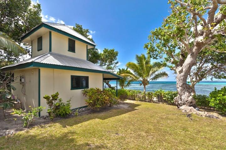 Beach Front Green House at Lucky's Beach