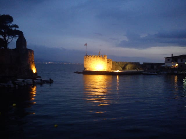 Port of Nafpaktos by night