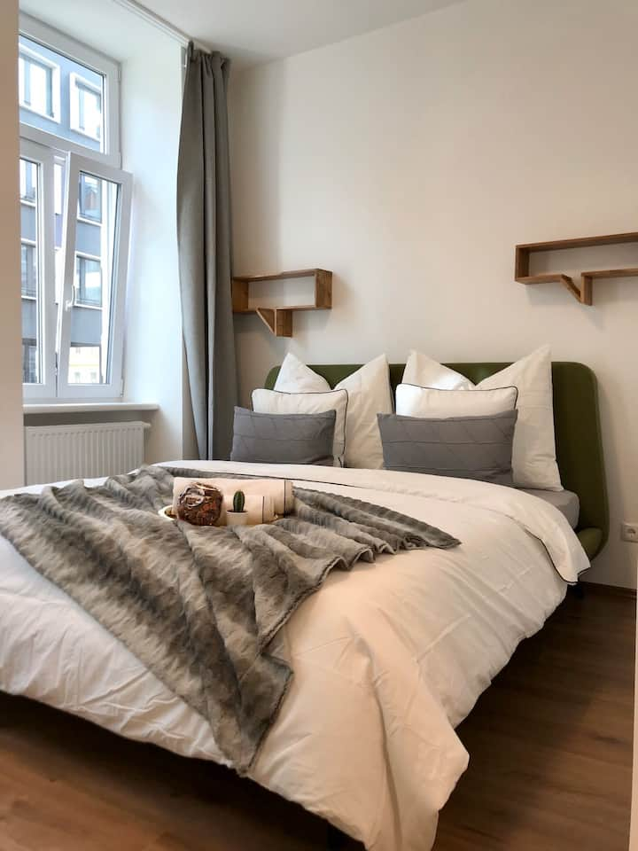 Urban city flat with cosy interior