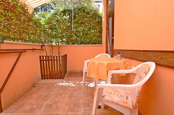One bedroom Apartment, 10m from city center, seaside in Novigrad, Balcony