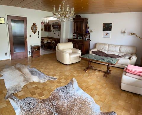 München City: Hus med tre soverom for syv personer.