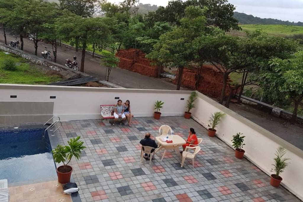 Top view from terrace