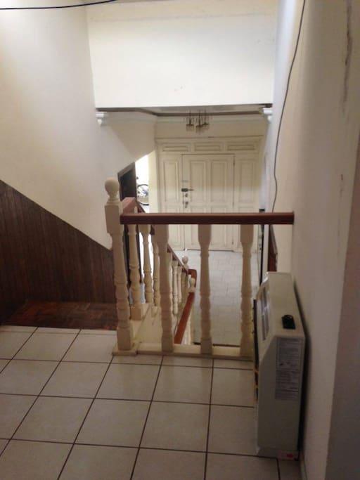 escaleras y calefacción