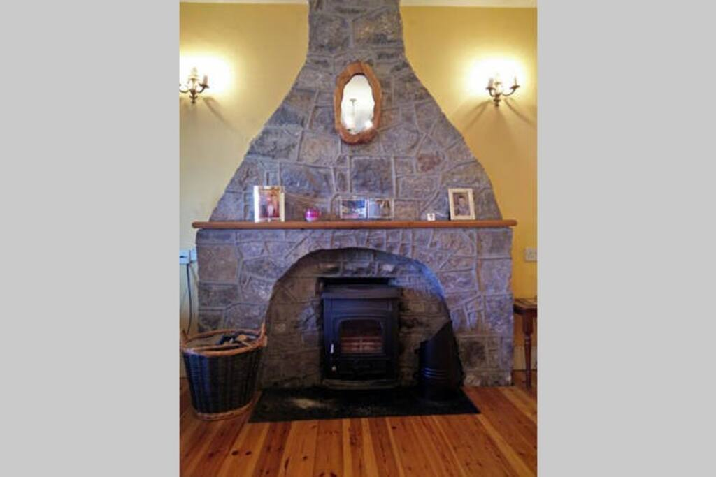 Shared living room - fireplace