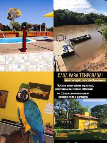 Casa para descanso a beira do rio Aquidauana