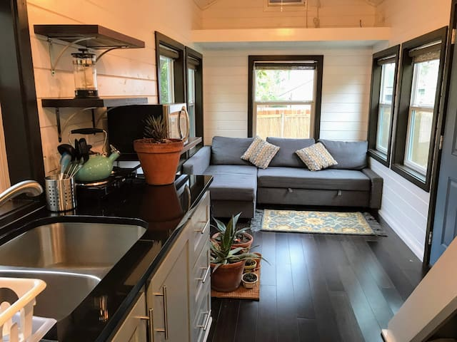 Rustic modern tiny house on the East Side