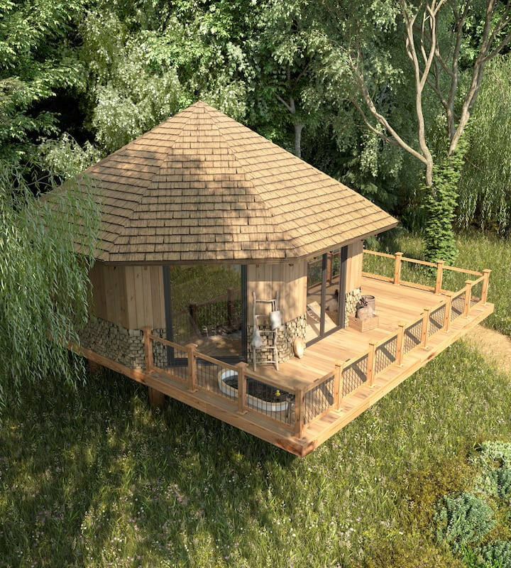 Cuckoo's Nest Treehouse on Lincolnshire Lakeside