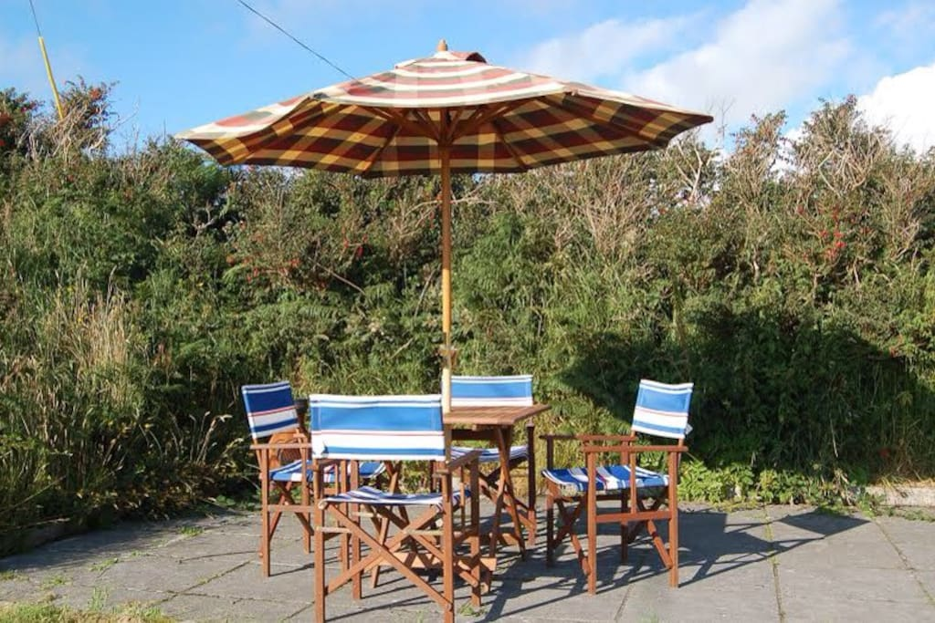 A great sun trap, with a view of the Atlantic