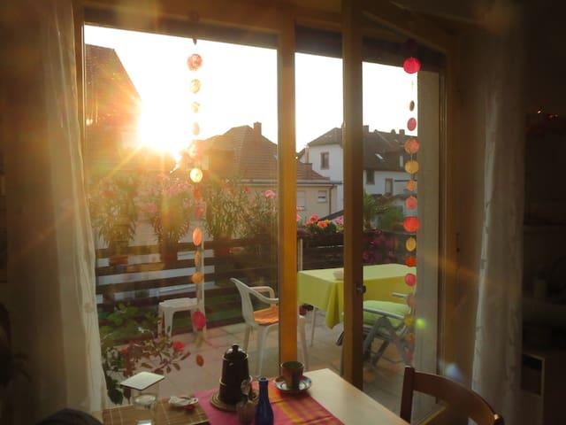 Holiday near Heidelberg in big sharing appartment - Schriesheim - Flat