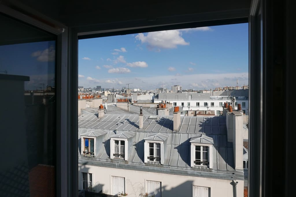 belle vue sur les toits de Paris