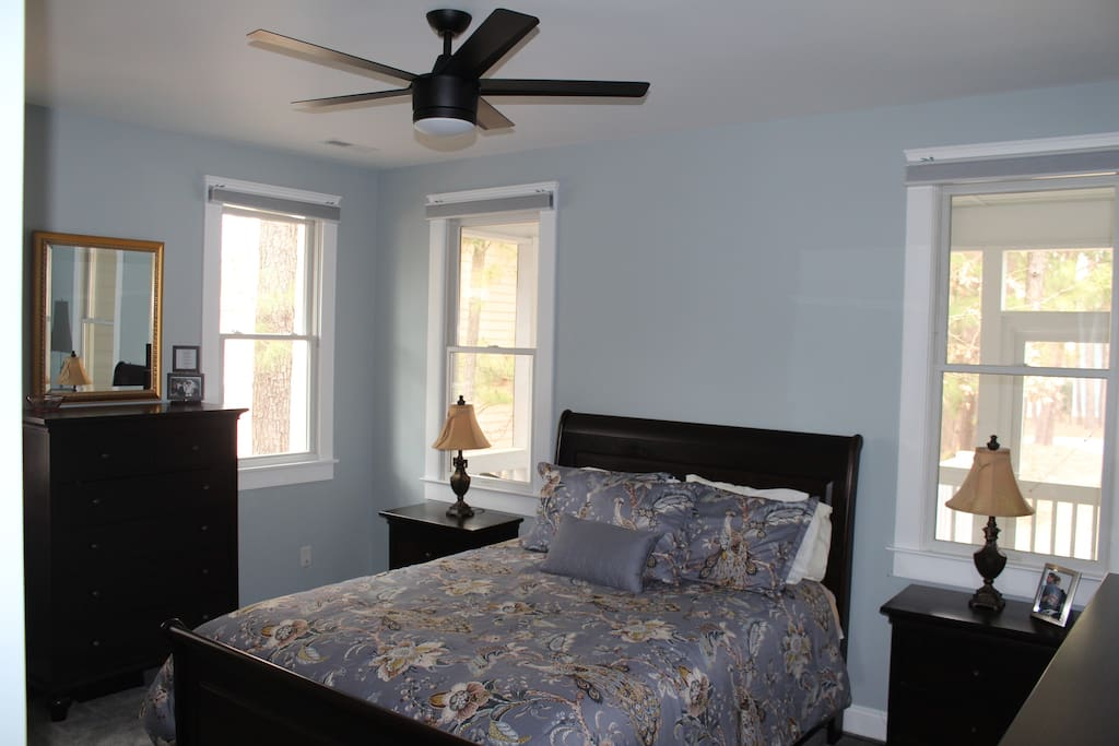 Brand new master bedroom with new mattress and carpet
