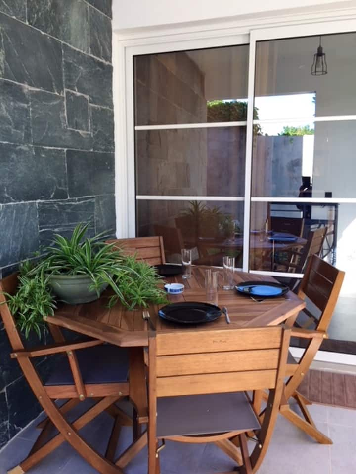 Apartment with one bedroom in Le Gosier, with enclosed garden and WiFi - 800 m from the beach