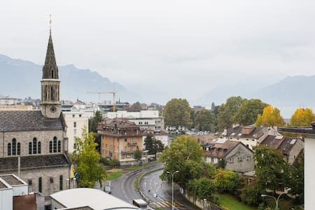 Private room 2 minutes from railwaystation & lake - Vevey - 公寓