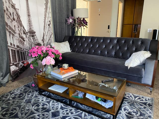 Chic Staycation apartment in great area!