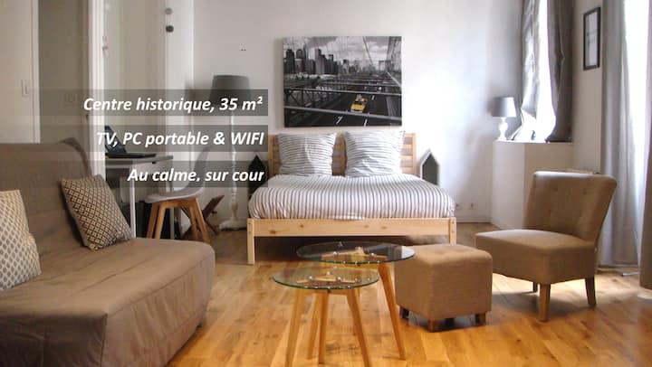 Centre historique, appartement de 35 m², au calme