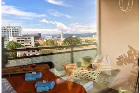 City center, secure parking, view - Apartament