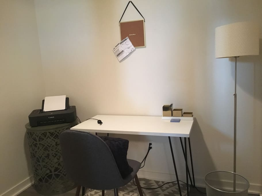 Great work space for business travelers