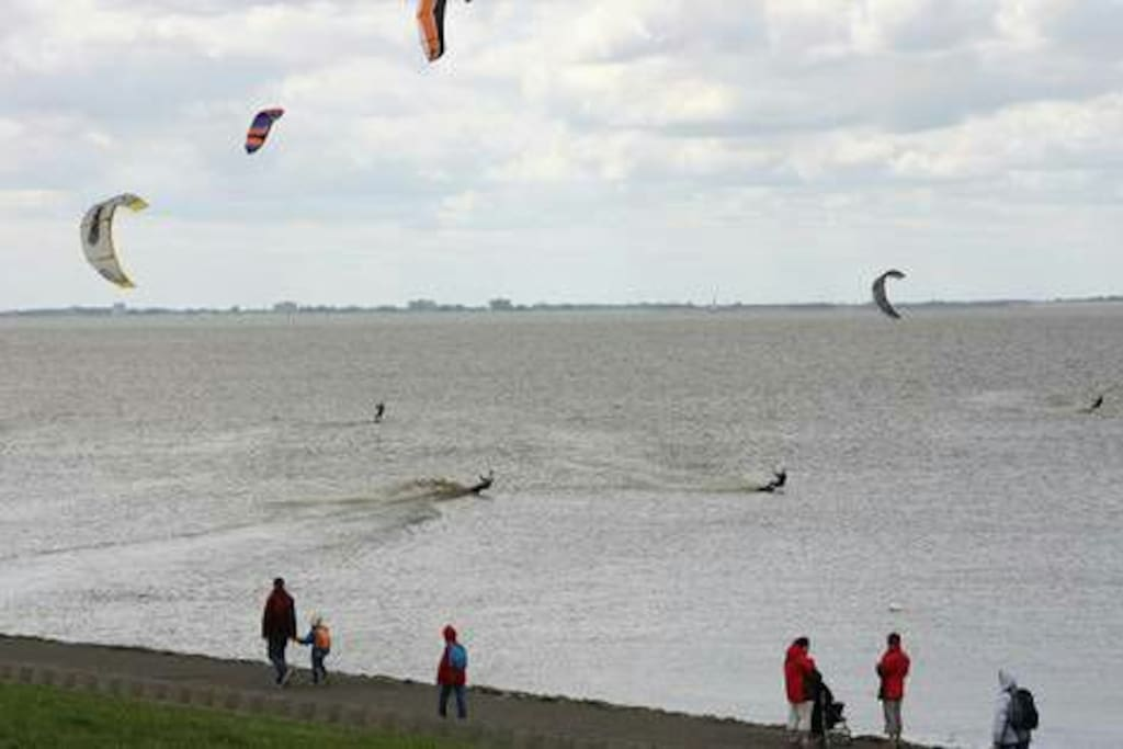 Kitesurfen in Upleward