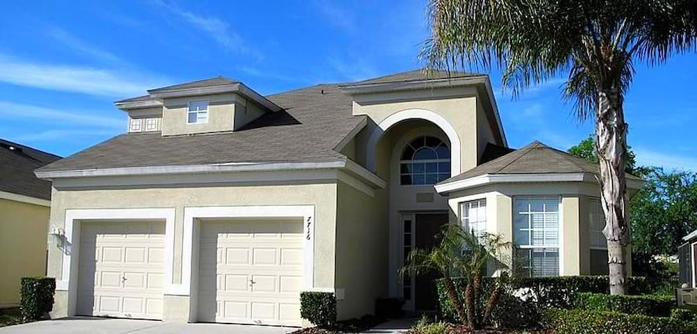 Minutes to Disney-5Bd/5Ba Home w/heated pool