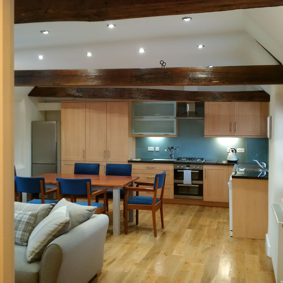 Guests will love the open-plan nature of the kitchen/living/dining area.