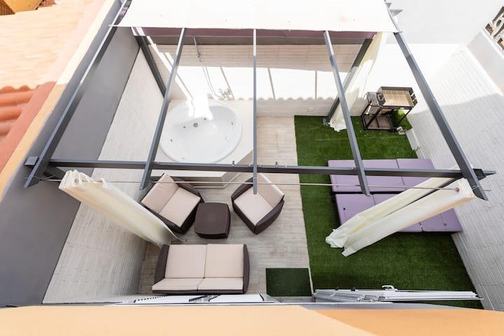 Duplex jacuzzi sonneland
