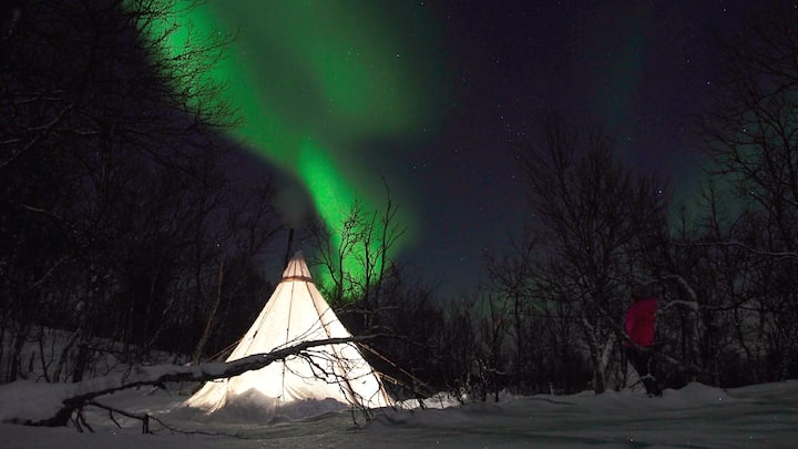 Arctic Camp in the Land and Fjords of the Sami