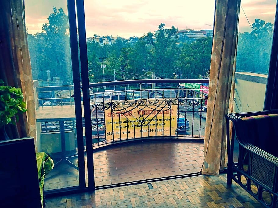 Terrace overlooking Burnham Park, Session Road and SM City Baguio
