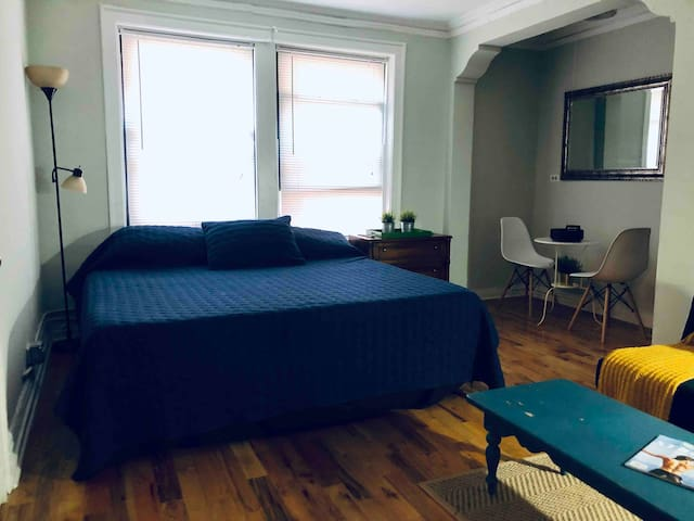 Cute studio with King bed near Lincoln Park Zoo