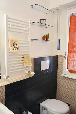 Il bagno/the private bathroom