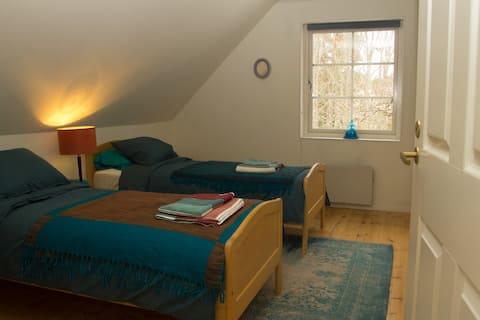 Warm & cosy twin room in Fiskars design village