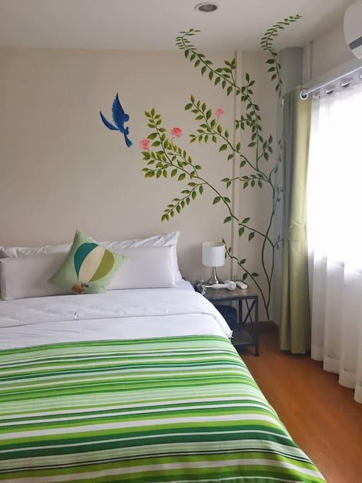 二楼绿色主题客房