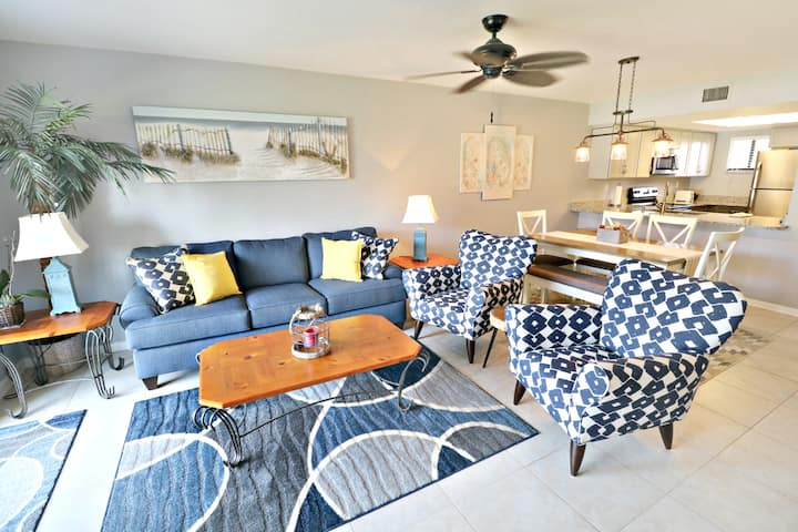 Completely Renovated Premium 2/2 Oceanside Condo, Ground Floor with Direct Access to Pool and Beach Boardwalk!  Ocean Village Club O16