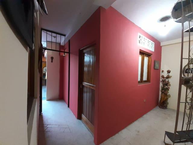 Vista externa de la habitación, independiente.