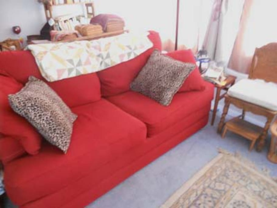 Sofa bed when not opened