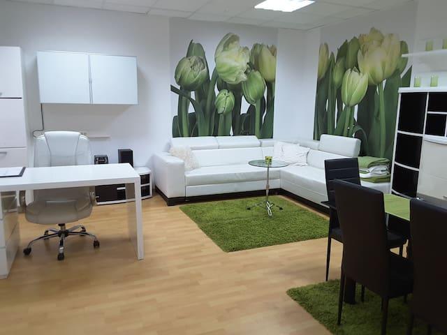 Flower power:Deluxe duplex apartmant
