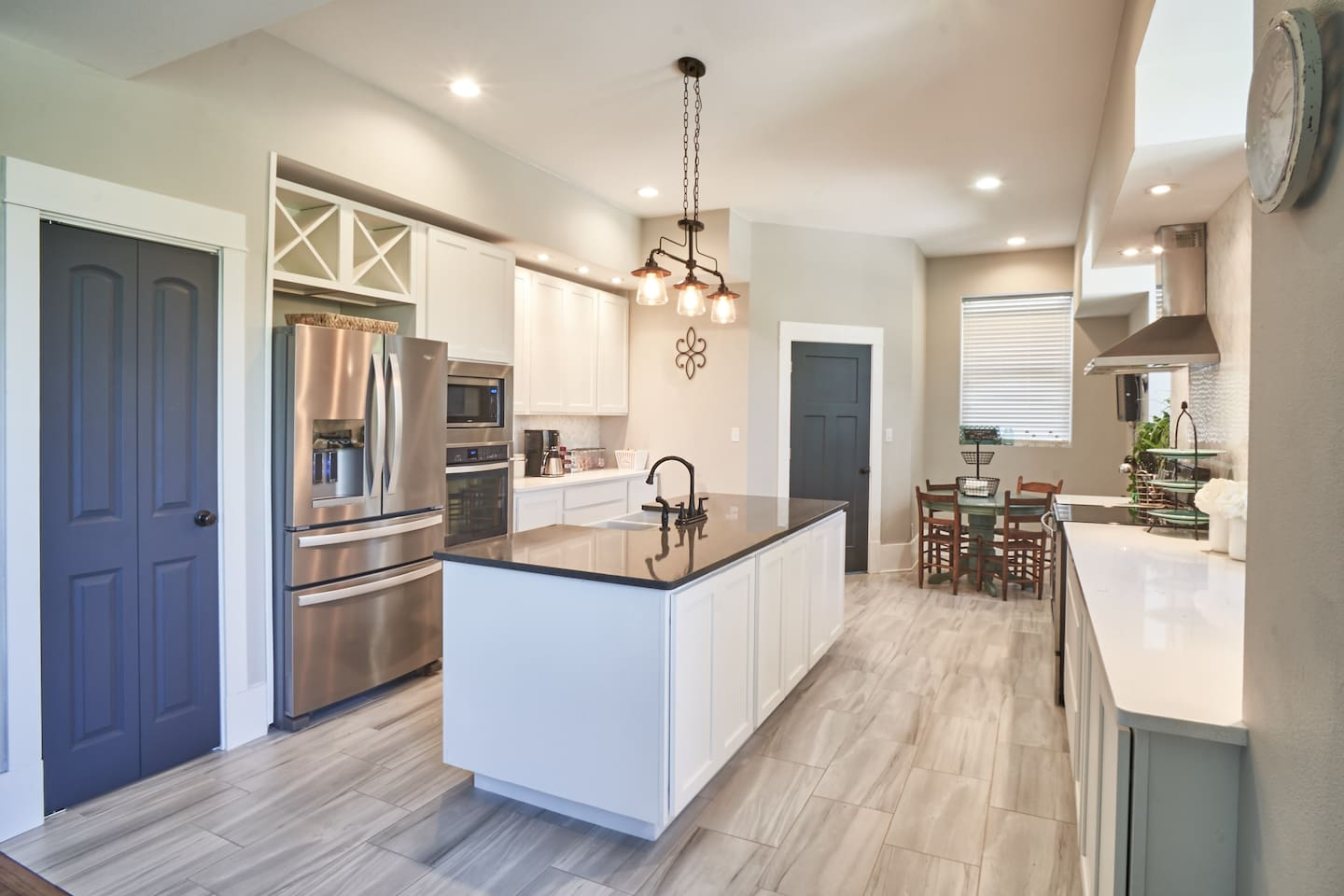 Fully updated kitchen!  Two ovens, stove top, sink island and much more!