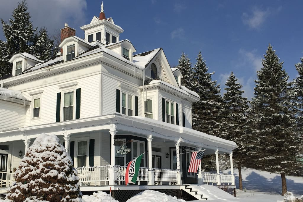 Winter at the Sutton House with Lake Views of Center Harbor Bay