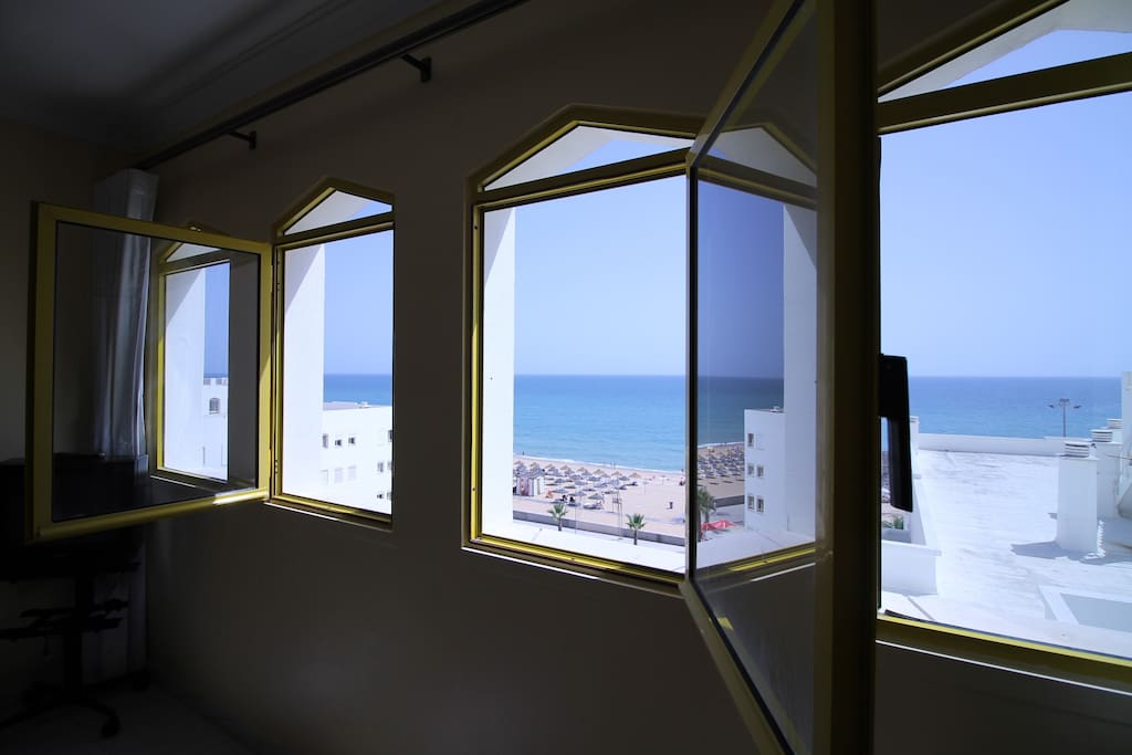 nothing between the door of the apartment and the beach, you can go even without shoes to the beach if you like