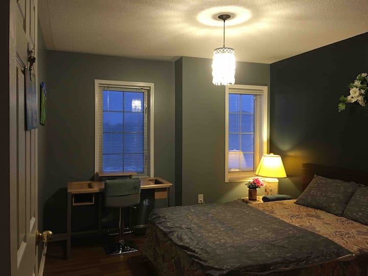 Home away from home!! private bedroom awaits you.