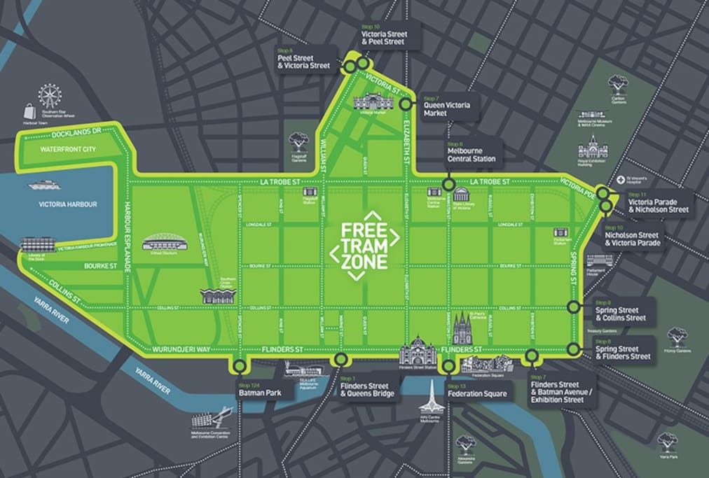 "you are  in the CBD ""Free Tram"" Zone!"