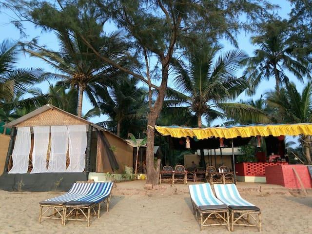 Sea front view huts