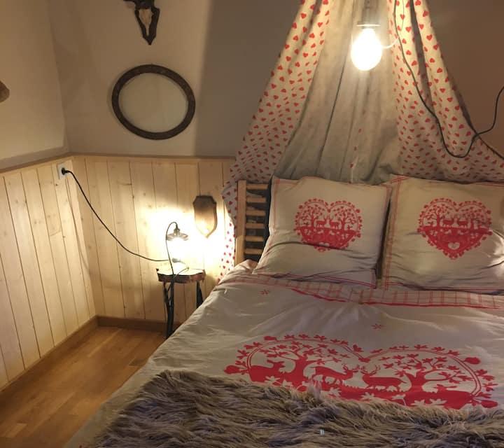 Chambre airco avec sdb